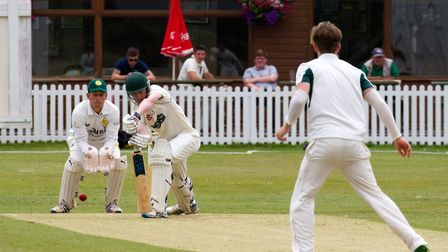 Nick Mansfield batting for Sidmouth II's at Budleigh. Ref shsp 29 17TI 7470. Picture: Terry Ife