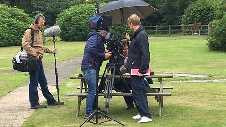 Chris Lintott who was at the time being filmed talking about various meteorite and what they are mad