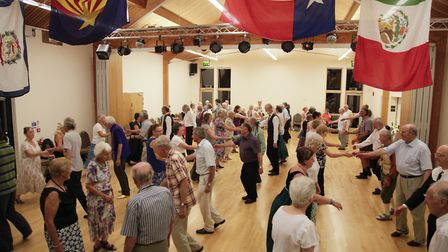 Folk dance at Stowford Rise Community Centre. Picture: Paul Clayden