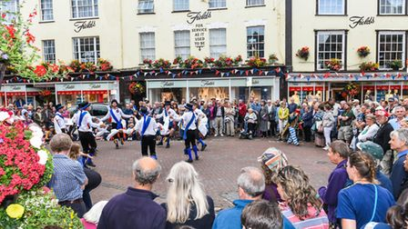 Dancing in Market Place. Picture: Kyle Baker