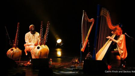 Catrin and Seckou live. Picture: Gareth Griffiths