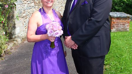 Nicola and John Seeley flew in from Australia to attend Alison and Paul Carter's wedding in Sidbury.