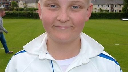 Ottery St Mary Under-12s player Lawrence Walker in his Devon kit