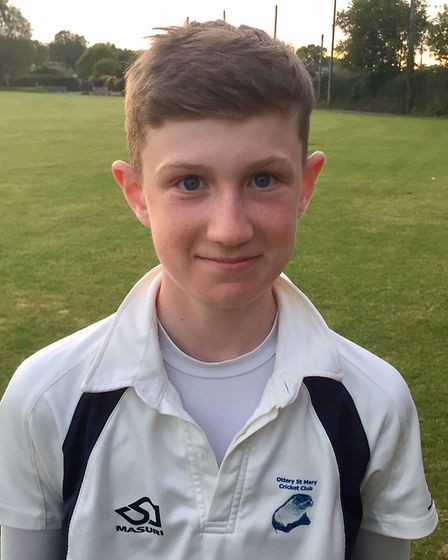 Ottery St Mary CC youngster James Tyler who will play for Devon Under-12s this season