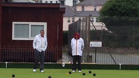 Bowls in the rain at Sidmouth