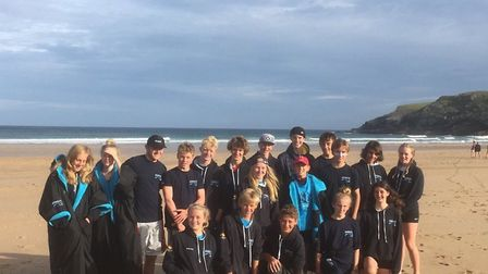 The Sidmouth young surf life saving team that returned from the North Devon competition with another