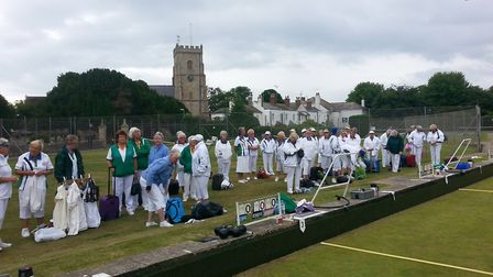 Sidmouthb ladies entertained 48 bowlers and the ladies' Devon County president Margaret Brotheridge