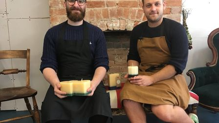 Sargon Latchin and Richard Hills-Ingyon have opened The Recycled Candle Company in Mill Street Otter