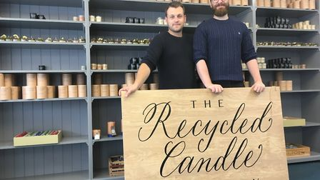 Richard Hills-Ingyon and Sargon Latchin have opened The Recycled Candle Company in Mill Street Otter