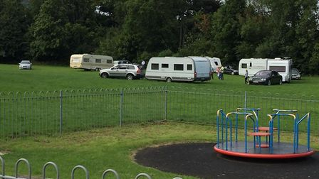 Caravans arrived at Long Park, Sidmouth, on Sunday. Picture: contributed