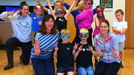 Pupils from Beer Primary School enjoy their final Zumba performance for the summer term.