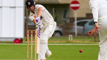 Josh Bess batting for Sidmouth at home to Torquay. Ref shsp 23-17TI 3903. Picture: Terry Ife