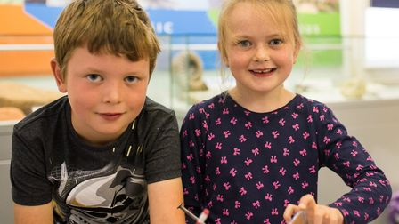 Children enjoy getting creative with Sidmouth Seafest at Sidmouth Museum. PICTURES: Sarah Hall
