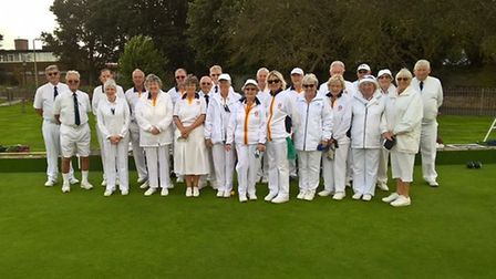 Sidmouth and South Dorset - just before they go out to bowl....