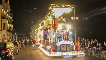 The Sid Vale float at the Sidmouth carnival. Ref shs 39-16TI 8700. Picture: Terry Ife