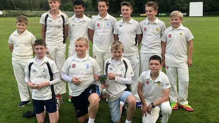 The Ottery St Mary Under-13s after their County Sports KO Cup success over Topsham St James at Cullo