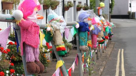 Scarecrows appeared around the village during Sidbury Fair week. Ref shs 9919-38-15SH. Picture: Simo