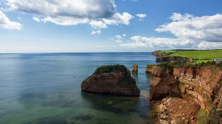 This was taken on a coastal walk from Sidmouth to Budleigh this year in August of the rocks at Ladra