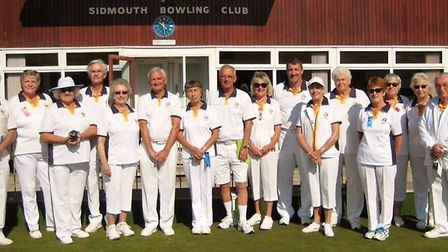 Some of the Sidmouth Bowls Club members that took part in the 2017 outdoor finals played across thre