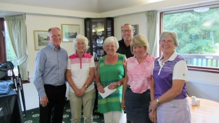 The winning players from the successful Professionals Day held at Sidmouth Golf Club