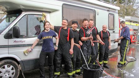 Car wash at Sidmouth fire station. Ref shs 11-16TI 2616. Picture: Terry Ife
