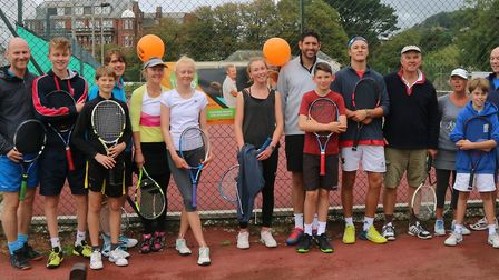 Sidmouth Tennis Club members who took part in the Quorn event held at the club.
