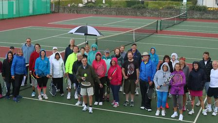 Sidmouth Tennis Club members who turned out for the fun triples meeting
