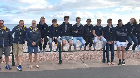 Sidmouth Surf Lifesaving Club's lifeguard candidates and trainers