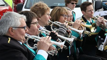 Sidmouth Town Band provided the musical entertainment. Ref: Archant 8020 140417 Good Friday