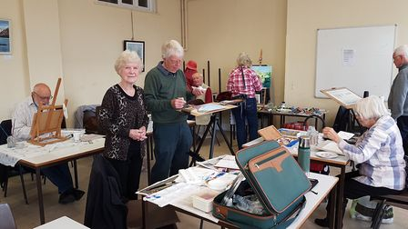 Catherine Golding and other members of the Friday Art Group