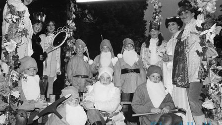 Sidmouth Carnival procession - 1983. Ref shs Sid Carnival Nost 2-10-1983-12. Picture: Sidmouth Heral