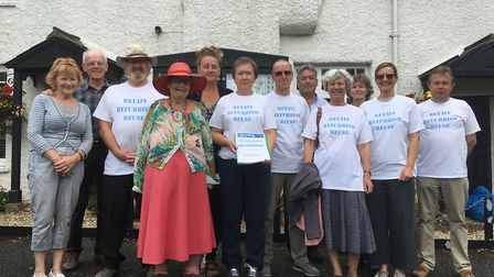'Three Rs' campaigners handed their petition to Sidmouth Town Council on Monday