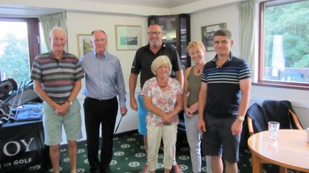 The prize winners fromThe Professional's Day at Sidmouth Golf Club. (Left to right) senior professio