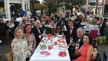 Black tie candlelit street party. Picture: Simon Horn