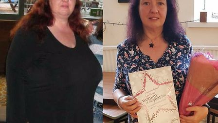 Lynn Cornish from Sidford has lost seven stone 6lbs in 14 months.