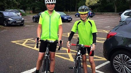 Aidan Peacy and Jack Dallyn will be riding to raise money for the Devon Air Ambulance, which marks i