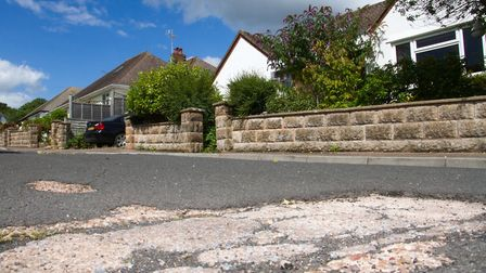 Manstone Close road surface. Ref shs 33-17TI 9481. Picture: Terry Ife