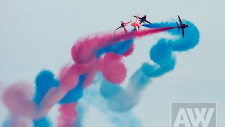 Red Arrows display in Sidmouth 2017. Picture: Alex Walton Photography