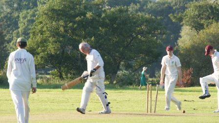 A wicket falls in the Tipton St John versus Newton Poppleford meeting.