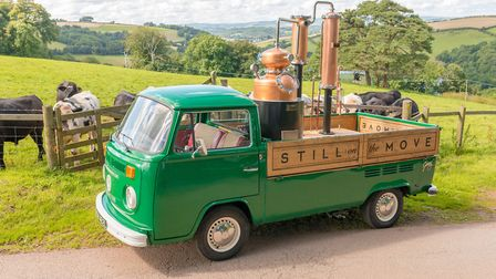 Cosmo Caddy's mobile distillery, Still on the Move