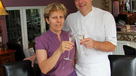 Annette and Andy Witheridge, owners of the Salty Monk in Sidford. Picture by Alex Walton. Ref shs 31