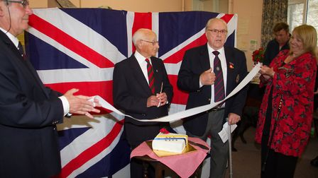 Les Andrews with George Bastone at the launch of Beer's Royal British Legion. Ref shb 34 17TI 9499.
