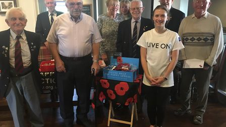 Sidmouth's Poppy Appeal collectors received certificates for their work over the last year. Don Rich