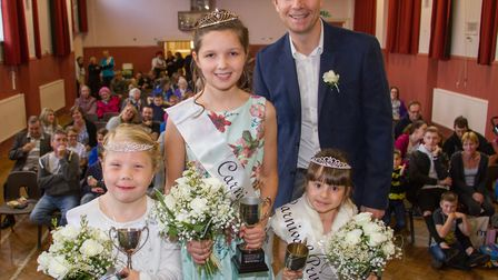 Alex Deakin crowns this years Ottery Royalty Queen Mia Kelly and Princesses Holly Keen and Rihanna H