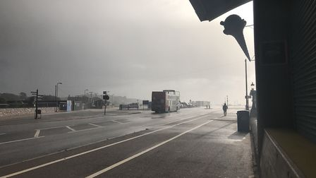Storm Brian in Exmouth. Photo: Jackson Hammond