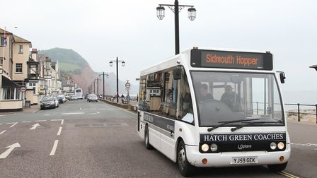 Sidmouth's new Hopper Bus took to the streets this week. Ref shs 21-16SH 6503. Picture: Simon Horn.