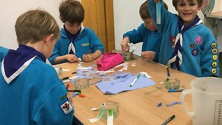 The Sid Vale Beaver Scouts got hands-on with six experiments