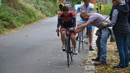 Ottery's first King and Queen of the Mountain hill climb took place on Sunday. CREDIT: Phyllis Baxte