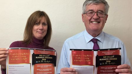 Ford Simey's Sarah Tregale and David Wheaton, who is also the Sidmouth Chamber of Commerce chairman