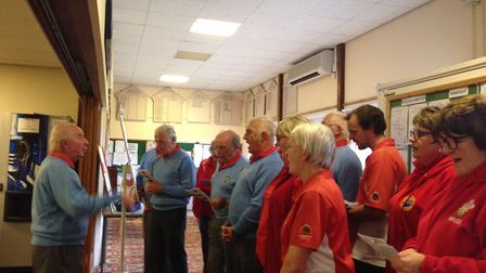 The Welsh touring side provide post-match entertainment in the Sidmouth club house
